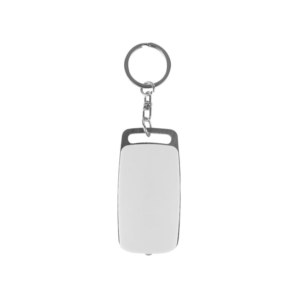 Clicker Keyring Torch - White/Silver